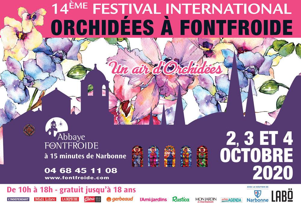 Affiche du 14e Festival Orchidées de Fontfroide.