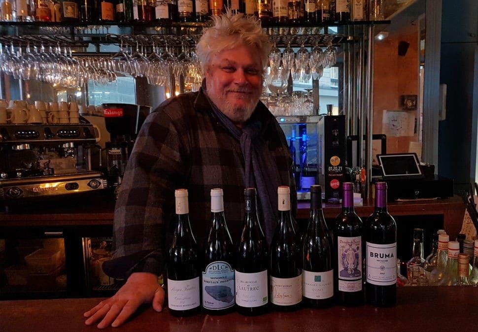 Une sélection (du jour) de vins de Vincent Solignac, bistrot Les Sardignac, rue Richer - Paris 9e Photo © Pierre d'Ornano Aeternus.fr