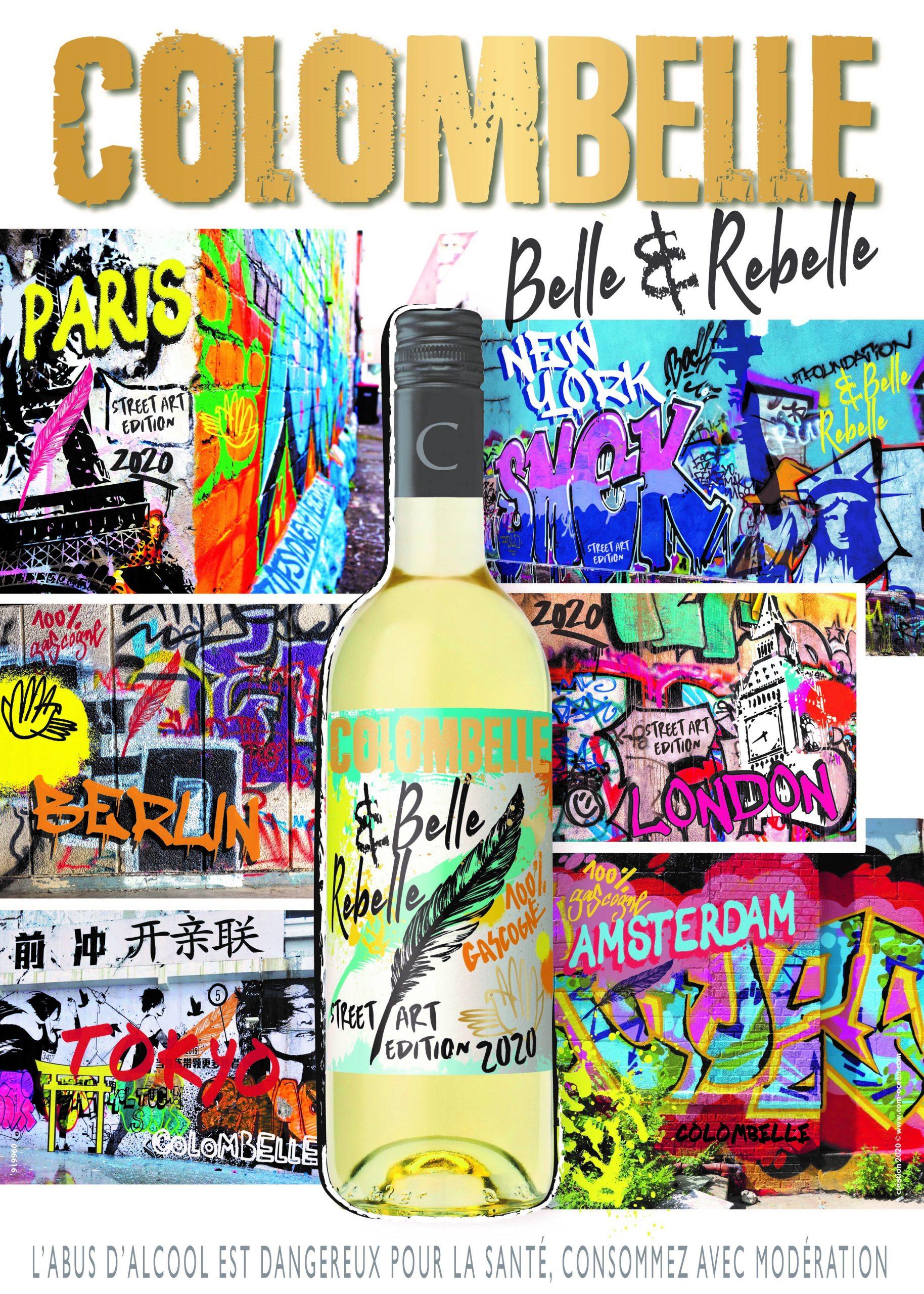 Affiche de l'édition limitée Colombelle 2020, vin de Plaimont Vignerons