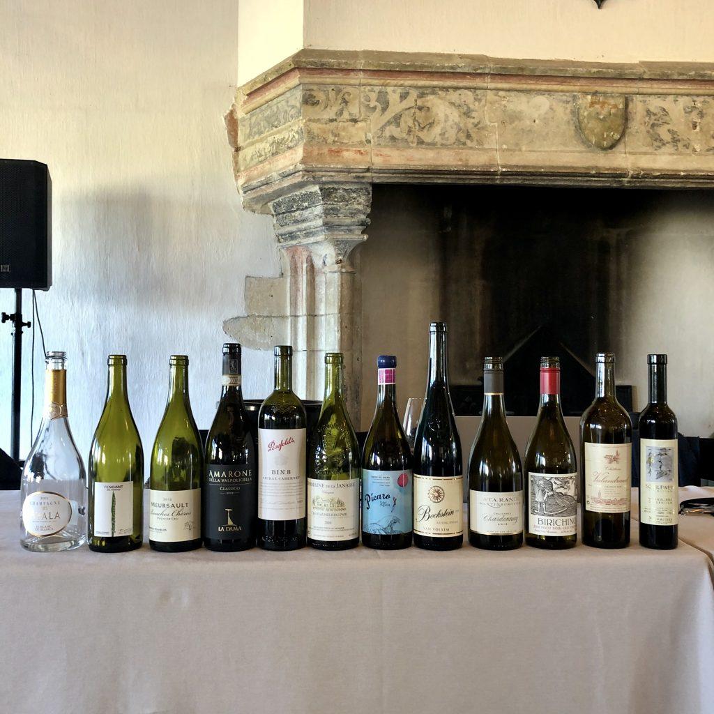 Les 12 vins dégustés au Championnat du monde de dégustation à l'aveugle 2020, au Château Smith Haut-Lafitte © RVF