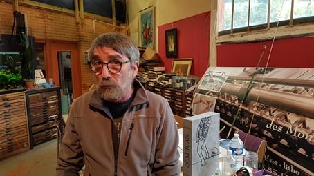 Pascal Duriez, Maître imprimeur - Imprimerie d'Arts des Montquartiers à Issy-les-Moulineaux. Photo © Pierre d'Ornano