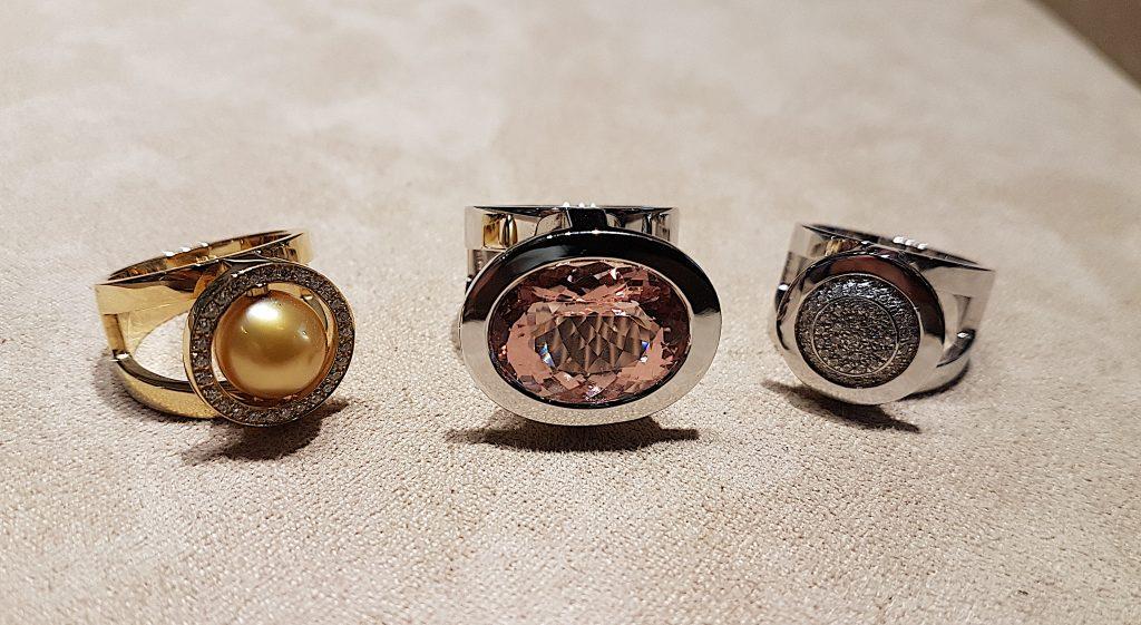 Trois créations du joaillier Antoine Chapoutot. Photo © Pierre d'Ornano Aeternus