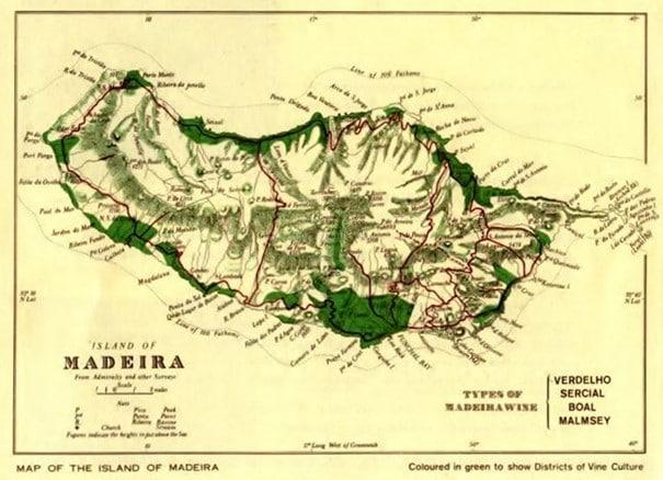 Carte de l'Île de Madère © IVBAM Christophe Macra MV