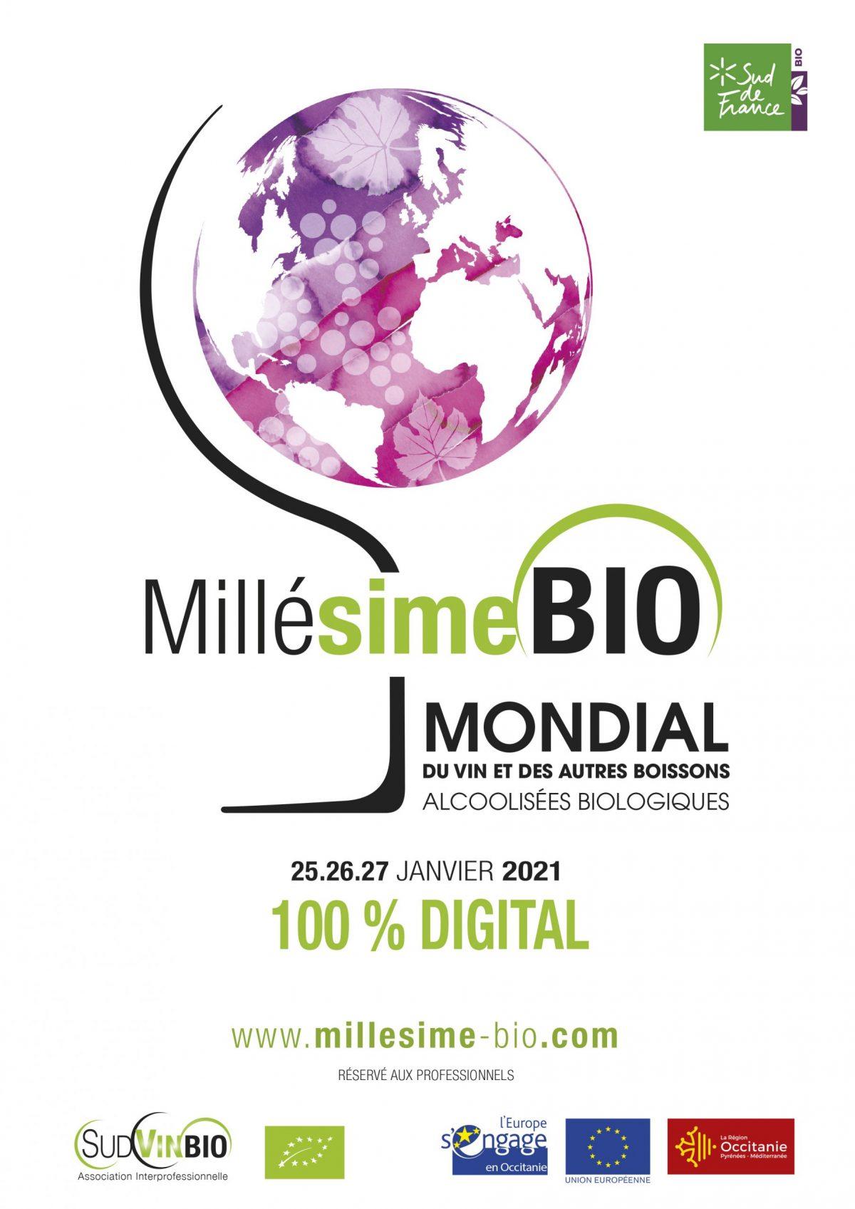 Affiche Millésime Bio 2021 Digital