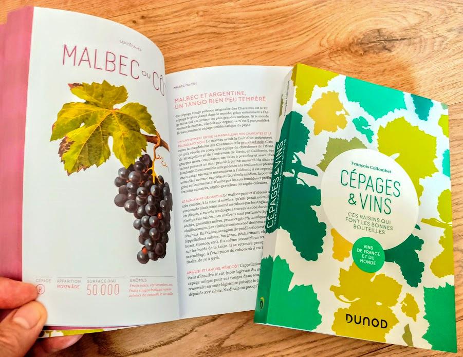 Photo du livre Cépages et vins de François Collombet Éditions Dunod