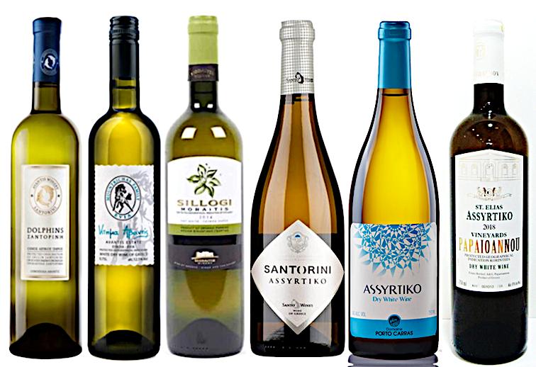 Quelques vins grecs à base d'assyrtico R. Photo © DR