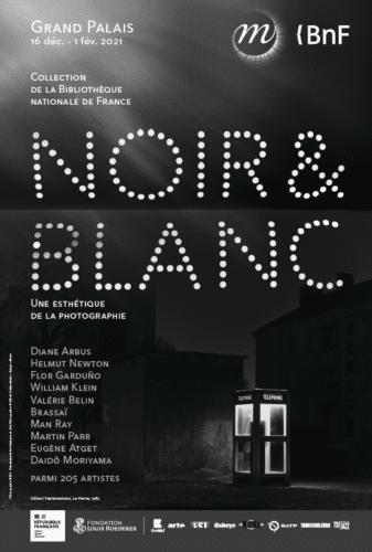 Affiche exposition photo Noir & Blanc Grand Palais/BnF 2020