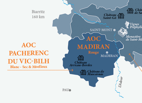 Carte AOC Pacherenc du Vic-Bilh © Plaimont