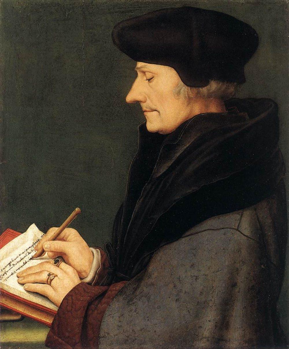 Portrait de Desiderius Erasmus (1523) par Hans Holbein Le Jeune (1497–1543) © DR