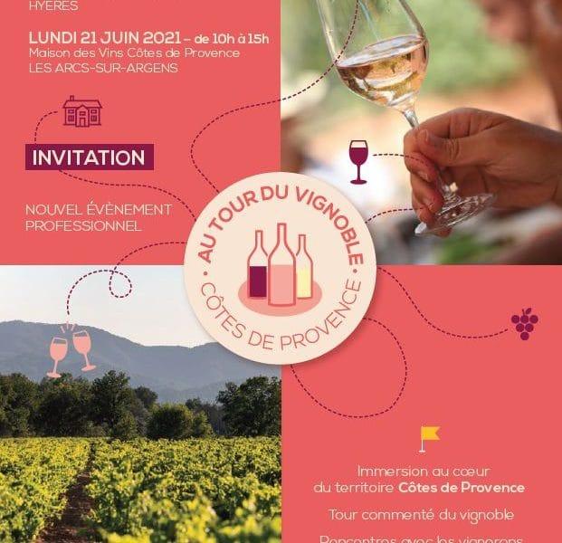 «Au tour du vignoble Côtes de Provence» : les 7 & 21 juin 2021 (dégustation professionnelle)